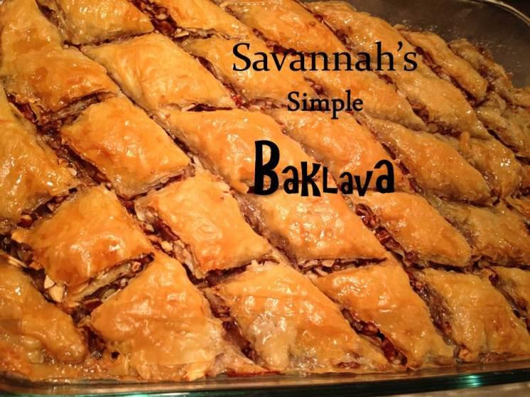 Baklava w letters