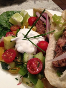 Spiced Curry Lamb Burgers with Lemon Herb Sauce