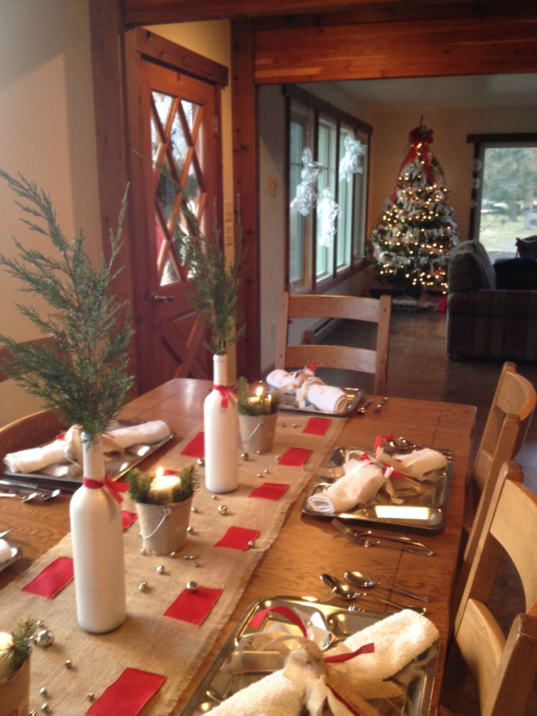 Burlap Christmas Tablescape