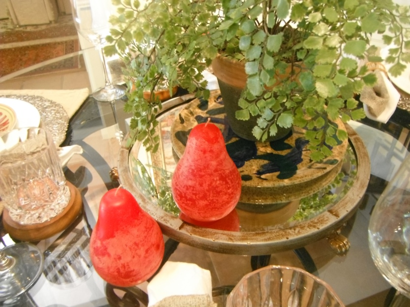 red pear candles
