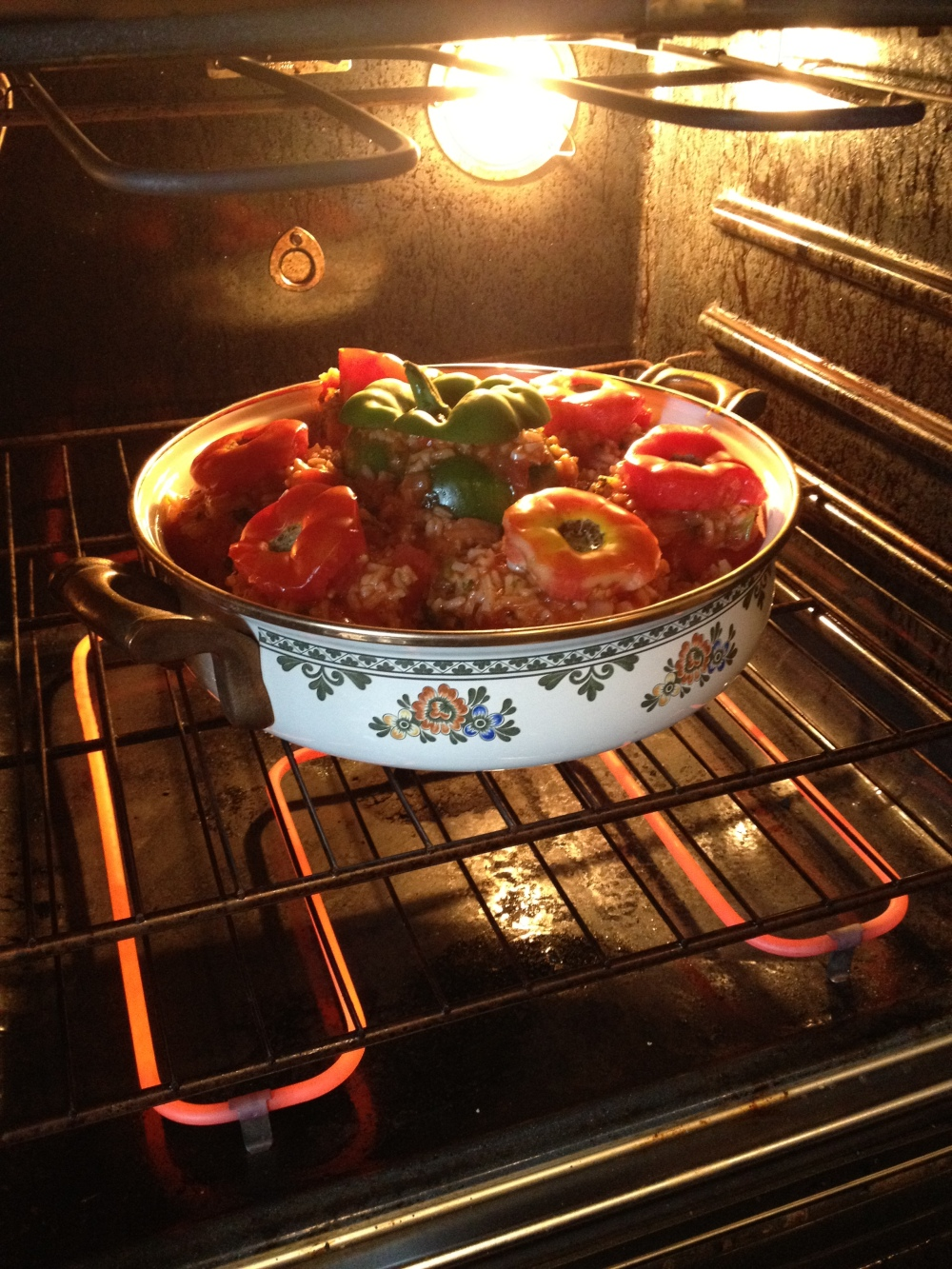 Stuffed Toms in oven