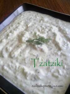 Tzatziki and Greek Meatballs