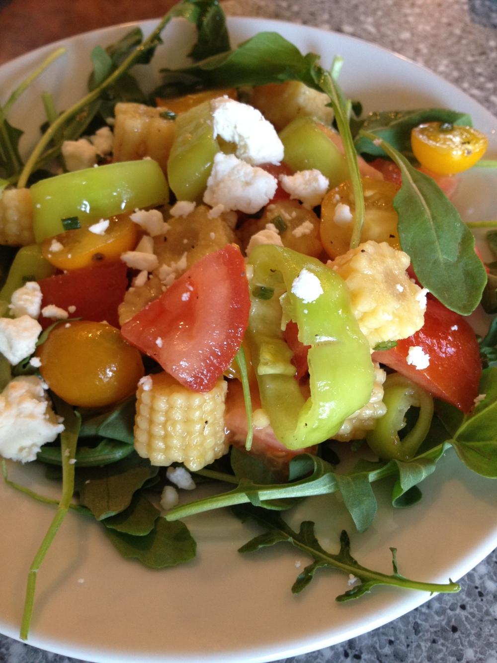summer rocket and tomato salad