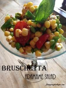 Bruschetta Edamame Salad
